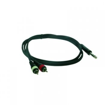 Reloop Kabel Stereo 6,3 mm M / 2x Cinch M 1,5 m (220108)