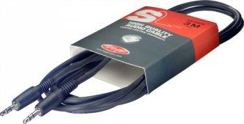 Stagg SAC1MPS, kabel stereo MINI JACK/MINI JACK, 1 m - 3 roky záruka