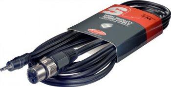Stagg SAC3MPSXF, kabel XLR/mini JACK, 3m - 3 roky záruka