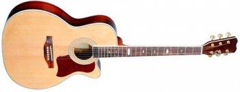 Dimavery JK-300 ak. kytara s výkrojem, přírodní - 3 roky záruka, Ušetřete ihned 3% při registraci