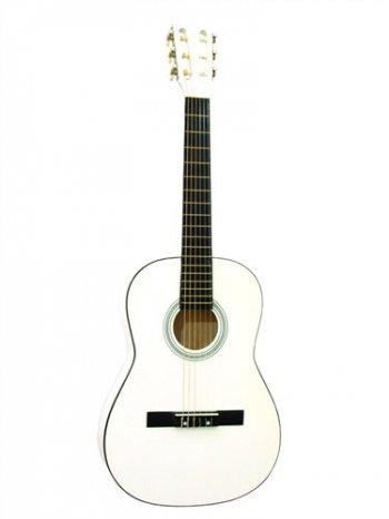 Dimavery AC-300 klasická kytara 3/4, bílá - 3 roky záruka