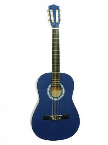 Dimavery AC-300 klasická kytara 3/4, modrá - 3 roky záruka