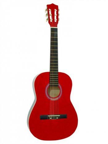 Dimavery AC-300 klasická kytara 3/4, červená - 3 roky záruka, Ušetřete ihned 3% při registraci