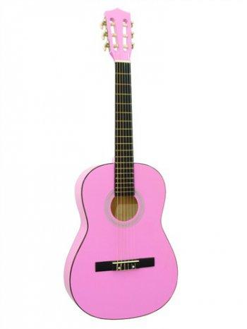 Dimavery AC-300 klasická kytara 3/4, růžová - 3 roky záruka