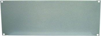 """Přední panel zaslepovací 19"""" 4HE U profil, stříbrný - 3 roky záruka"""