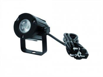 Eurolite LED spot 3W, 6000K, 6°, černý - 3 roky záruka