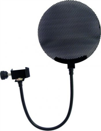 Mikrofonový plop filtr, kovový, černý - 3 roky záruka