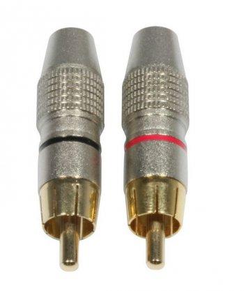 AC-C-RMG/SET RCA Cinch plug male gold - 3 roky záruka