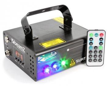 BeamZ Laser Surtur II Double RG Gobo 300mW, 1x 3W modrá LED, DMX - 3 roky záruka