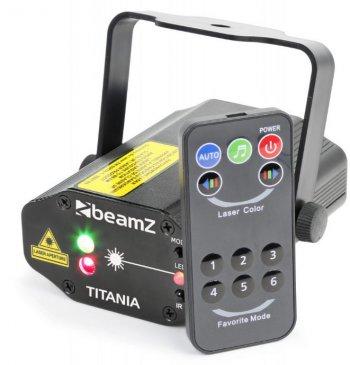 BeamZ Laser Titania Double, 200mW RG, Gobo, DO - 3 roky záruka