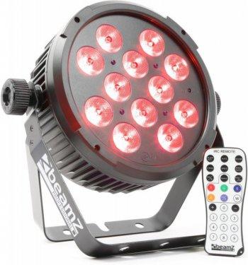 BeamZ LED FlatPAR 12x8W QCL, IR, DMX, černý - 3 roky záruka