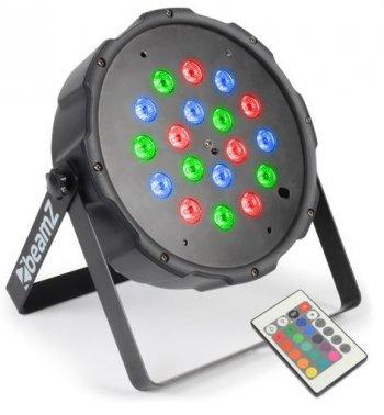 BeamZ LED FlatPAR 18x 1W RGB, IR, DMX - 3 roky záruka