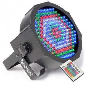 BeamZ LED FlatPAR reflektor s IR, 154x 10mm RGBW, DMX - 3 roky záruka