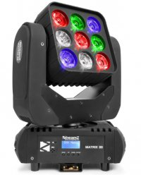 Beamz LED Matrix 33, 9x 15W QCL, IR, DMX