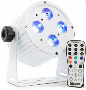 BeamZ LED PAR 4x18W HCL, IR, DMX, bílý - 3 roky záruka