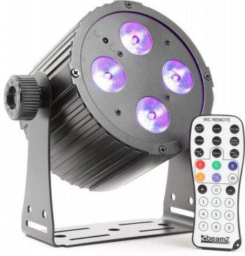 BeamZ LED PAR 4x18W HCL, IR, DMX, černý - 3 roky záruka