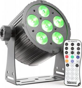BeamZ LED PAR 6x18W HCL, IR, DMX, černý - 3 roky záruka