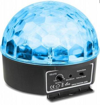 BeamZ mini Half Ball 6x 3W RGBAW LED, světelný efekt - 3 roky záruka