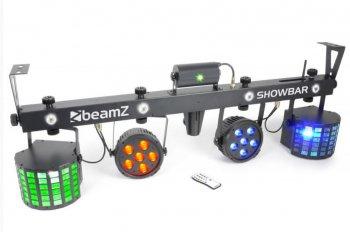 BeamZ Showbar, 2x PAR 6x QCL, 2x Butterfly, Laser R/G, DMX, IR - 3 roky záruka
