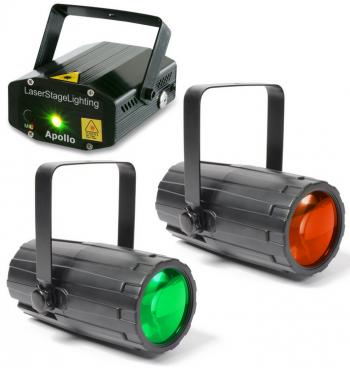BeamZ světelný set II, laser a 2 paprskové efekty - 3 roky záruka