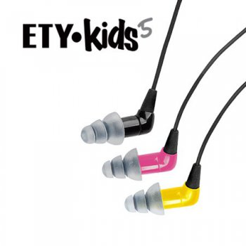 EtyKids EK5 Volume Limited Childrens Earphones - Pink - 3 roky záruka