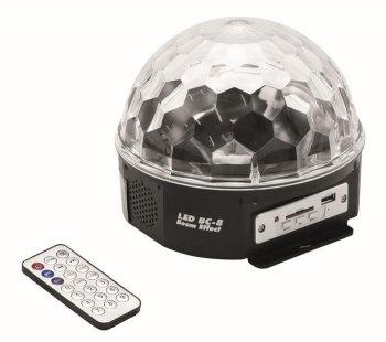 Eurolite LED Half Ball, 6x 1W, MP3 - 3 roky záruka, Ušetřete ihned 3% při registraci