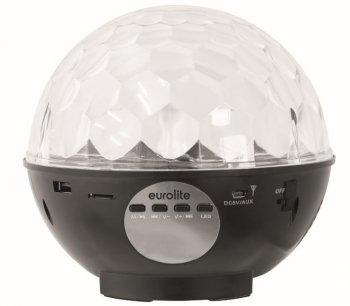 Eurolite LED HALF BALL AKKU 3x2 SMD,MP3,USB,IR, dobíjecí baterie - 3 roky záruka