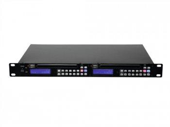 Omnitronic DMP-202 dvojitý USB CD přehrávač - 3 roky záruka