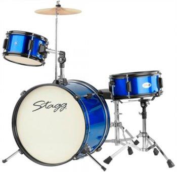 Stagg TIM JR 3/16 BL MK II, dětská bicí sada, modrá - 3 roky záruka