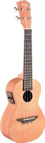 Stagg UCX-ROS-SE, koncertní elektroakustické ukulele - 3 roky záruka