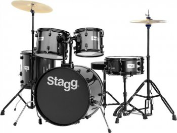 Stagg TIM120B BK, bicí sada, černá - 3 roky záruka