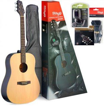 Stagg SA30D-N PACK, kytarová sada - 3 roky záruka