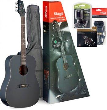 Stagg SA30D-BK PACK, kytarová sada - 3 roky záruka