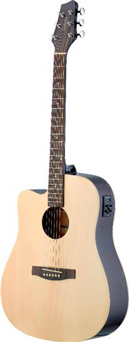 Stagg SA30DCE-N LH, elektro-akustická kytara, přírodní - 3 roky záruka
