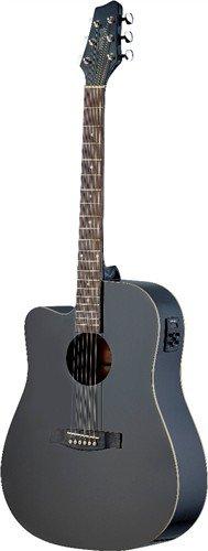 Stagg SA30DCE-BK LH, levoruká elektroakustická kytara - 3 roky záruka, Ušetřete ihned 3% při registraci