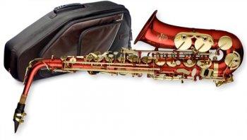 Stagg WS-AS217S, Es alt saxofon, červený - 3 roky záruka, Ušetřete ihned 3% při registraci