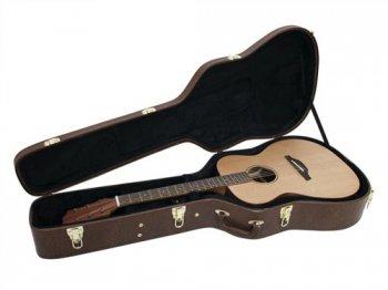 Dimavery tvarovaný kufr pro westernovou kytaru, hnědý - 3 roky záruka