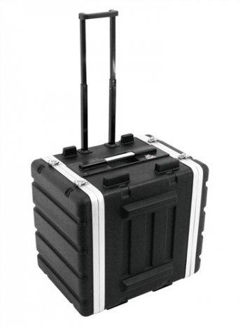 """PVC-Rack 19"""", 8HE černý s kolečky a madlem - 3 roky záruka"""