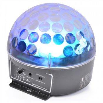 BeamZ mini Half Ball 3x 3W RGB LED, světelný efekt - 3 roky záruka