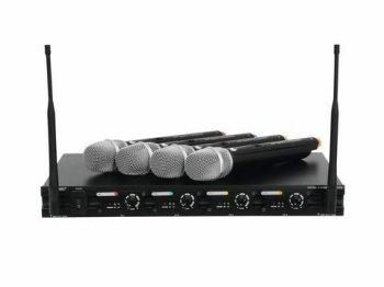 Omnitronic UHF-204 bezdrátový mikrofon 823-832MHz - 3 roky záruka, Ušetřete ihned 3% při registraci