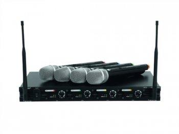 Omnitronic UHF-204 bezdrátový mikrofon 863.01-864.99MHz - 3 roky záruka, Ušetřete ihned 3% při registraci