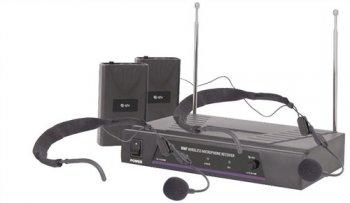 QTX VHF-HS2 bezdrátový mikrofon, 2 kanálový, 174,1 + 175 MHz - 3 roky záruka