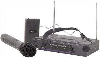 QTX VHF-N2 bezdrátový mikrofon, 2 kanálový, 173,8 + 174,8 MHz - 3 roky záruka, Ušetřete ihned 3% při registraci