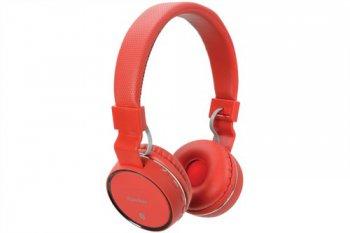 AV:link PBH-10 bezdrátová Bluetooth SD sluchátka červené - 3 roky záruka