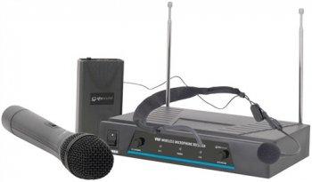 QTX VHF-N2 bezdrátový mikrofon, 2 kanálový, 174,1 + 175 MHz - 3 roky záruka, Ušetřete ihned 3% při registraci
