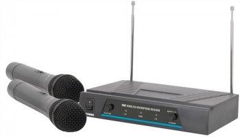 QTX VHF-2, bezdrátový mikrofon, 2 kanálový, 173,8 + 174,8 MHz - 3 roky záruka
