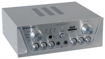 Skytec karaoke zesilovač USB / SD, stříbrný - 3 roky záruka