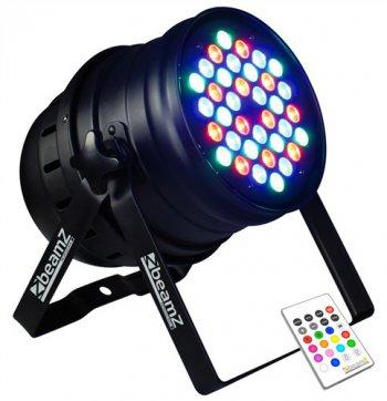 BeamZ LED PAR-64 36x3W RGBW - 3 roky záruka