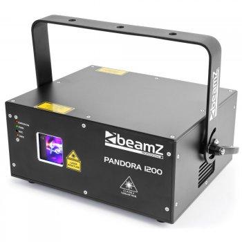 BeamZ Pandora 1200 TTL laser, 1200 mW RGB, DMX, ILDA - 3 roky záruka