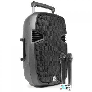 """Skytec SPJ-PA 915, aktivní 15"""" reprobox MP3-SD-USB-2xVHF 350W - 3 roky záruka"""